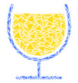 wine glass mosaic of triangles vector image