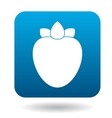 Persimmon icon in flat style vector image