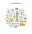 Conceptual contour isolated set icons vector image