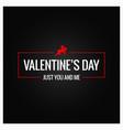 valentines day logo border background vector image