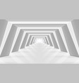 3d abstract light and futuristic corridor interior vector image vector image