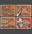 american wild west vintage posters vector image vector image