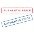 authentic price textile stamps vector image vector image
