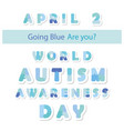 autism awareness information banner puzzle vector image