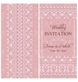 Baroque wedding invitation pink vector image vector image