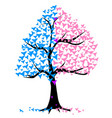 boy girl hearts tree vector image