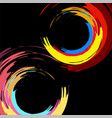 brush stroke colorful circles on white background vector image