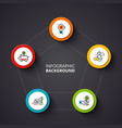 business template for presentation circle vector image vector image