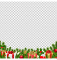christmas border transparent background vector image