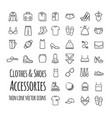 clothes shoes accessories thin line set vector image vector image