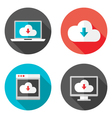 Cloud Services Flat Icons with Shadows Set vector image vector image