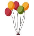 color balloons decor park or fun fair element vector image vector image