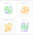colorful flat design icon passive income fast vector image vector image