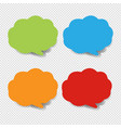 colorful speech bubble collection transparent vector image vector image