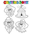 coloring book with clown images vector image