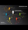 company organization hierarchy schema diagram vector image vector image