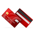 Credit Card red icon Isolated on white vector image vector image