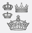 crown the king symbol hand drawing style vector image vector image