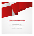 denmark insignia template vector image vector image