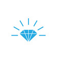 diamond icon design template isolated vector image vector image