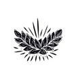 ear wheat in linocut style vector image vector image