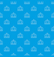 empire crown pattern seamless blue vector image vector image
