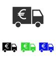 euro car flat icon vector image