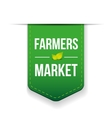 Farmers Market green ribbon vector image