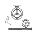 Fishing reel icons vector image vector image