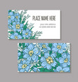 floral abstract template business card hand-drawn vector image vector image