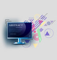 geometry background abstract computer vector image