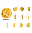 gold rotate bitcoin frames vector image vector image