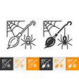halloween spiderweb simple black line icon vector image vector image
