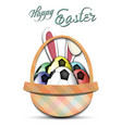 happy easter soccer balls in form eggs vector image