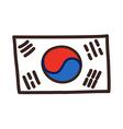 icon Korea vector image vector image
