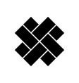 japanese cross icon isolated on white background vector image