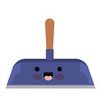 kawaii hand dustpan with wooden stick in colorful vector image vector image