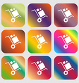 loader Icon Nine buttons with bright gradients vector image vector image