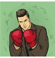 Man in boxing gloves in comic vector image