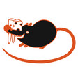 modern with black cute mouse vector image vector image