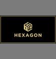 on hexagon logo design inspiration vector image vector image