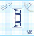 open door line sketch icon isolated on white vector image vector image