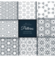 pack of abstract patterns in floral style vector image vector image