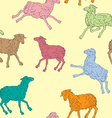pattern with sheeps vector image vector image