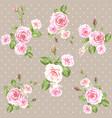 pink vintage roses pattern vector image vector image