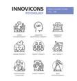 psychology concept - line design style icons set vector image