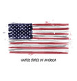 realistic watercolor painting flag usa vector image vector image