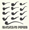 Retro Smoking Pipes vector image vector image