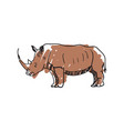 rhinoceros hand drawn isolated icon vector image