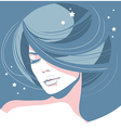 romantic girl with closed eyes vector image vector image